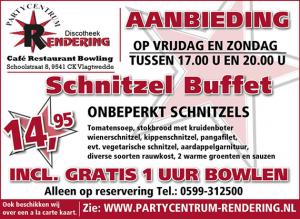 Partycentrum Rendering Schnitzelbuffet