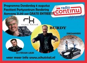 Radio Continu drive-in show bij Partycentrum Rendering te Vlagtwedde
